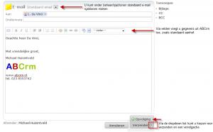 CRM software verzenden email