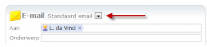 Online CRM email sjabloon